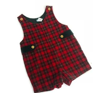 Baby Togs Plaid Romper One Piece Outfit Jumper